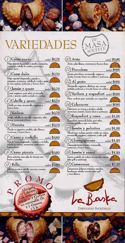 Menu actual por las clases de espanol estudiando el tema de comida tipica  hispanica | Spanish food unit, Food, Spanish food