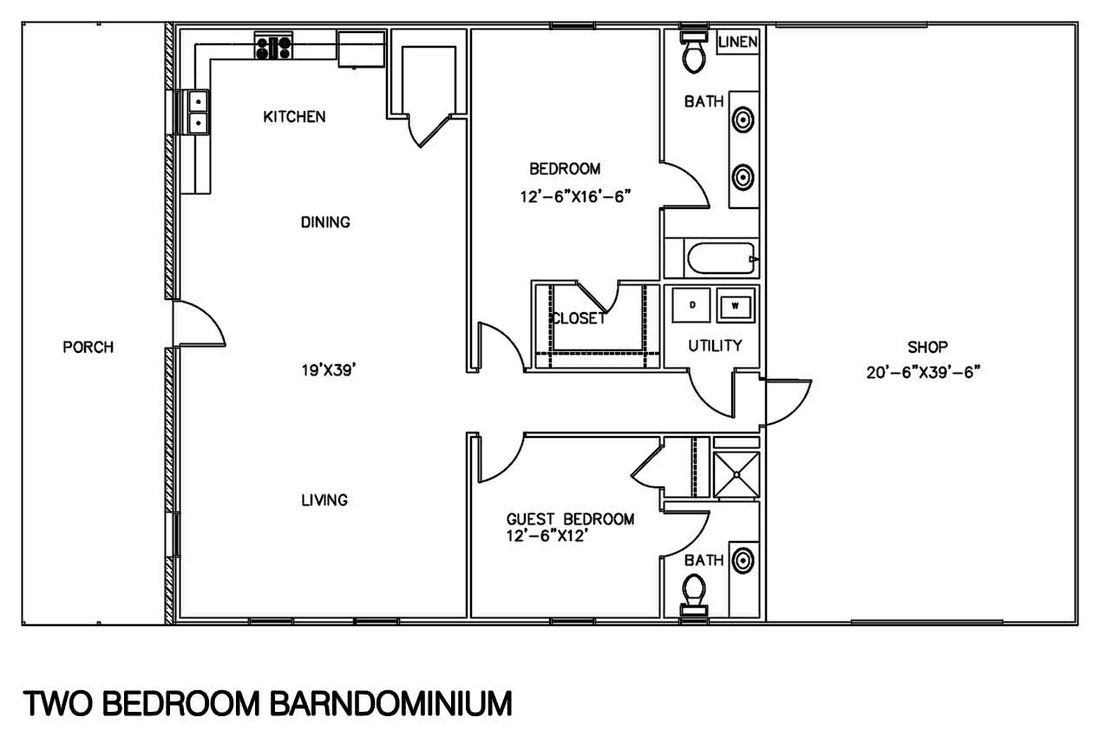 Barndominium floor plans pin floorplans texas barndominium for Shop floor plans