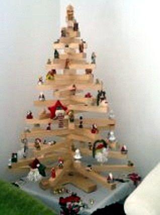 Arbol navidad en madera pino o sapan elaborado bajo - Arbol de navidad diferente ...