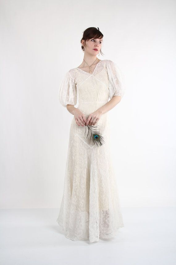 Antique Maxi Gown 1930s Wedding Dress | 1930s wedding, Maxi gowns ...