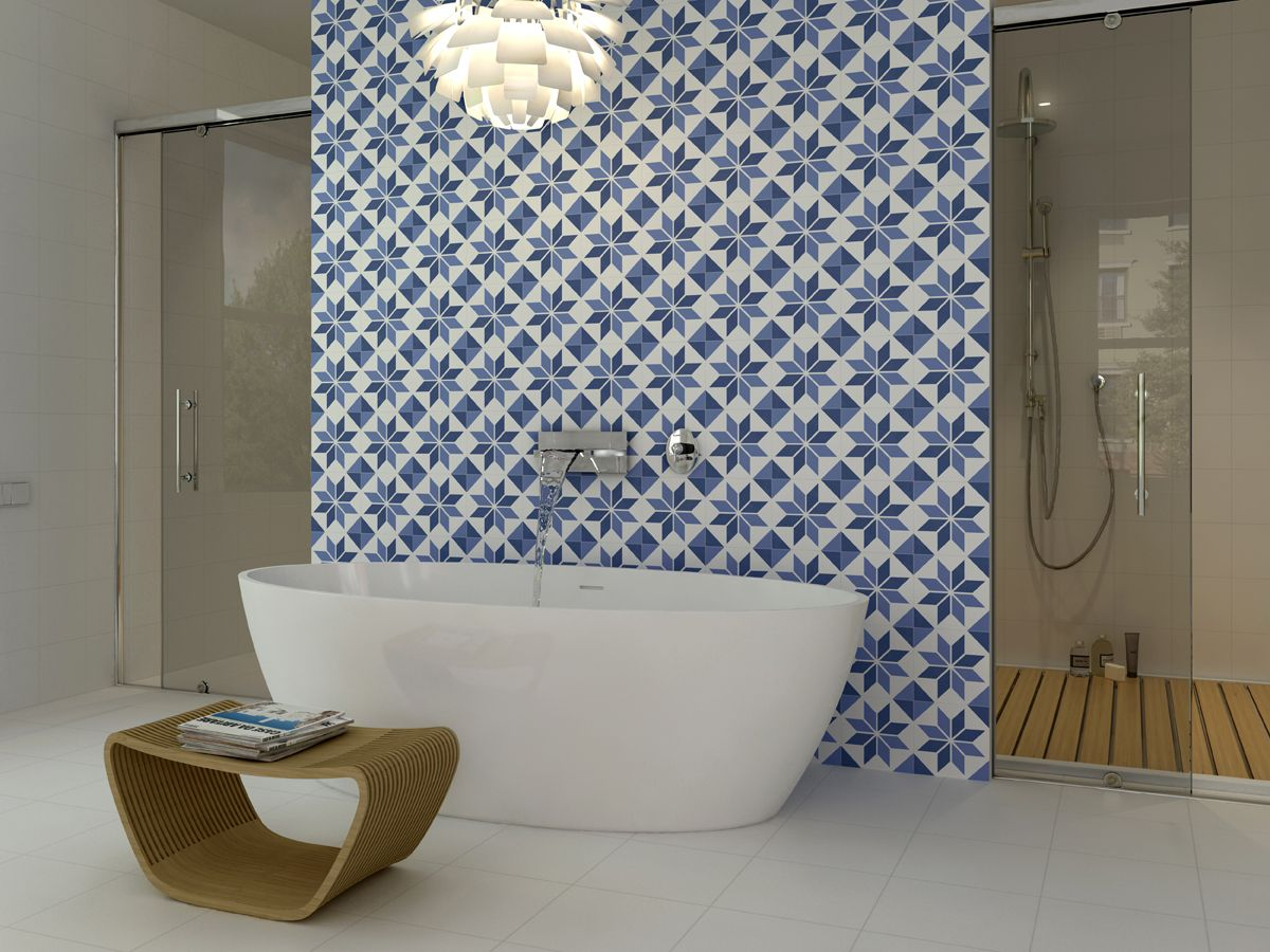 10 Gorgeous Ways to Do Patterned Tile in the Bathroom | Decorating ...