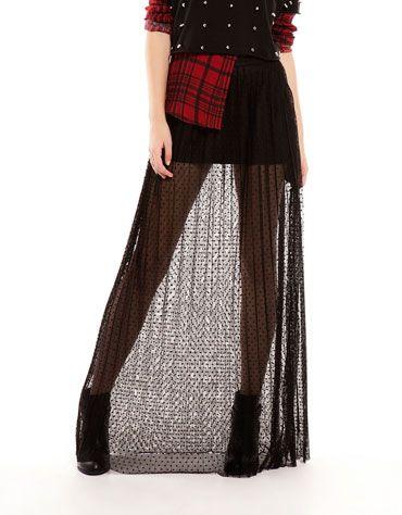 af373a368e04 Bershka Turkey - Bershka long pleated tulle skirt