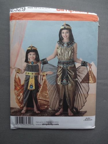 Simplicity-2329-Childrens-Costume-Sewing-Pattern-Egyptian-Outfit-7-14-New-Uncut