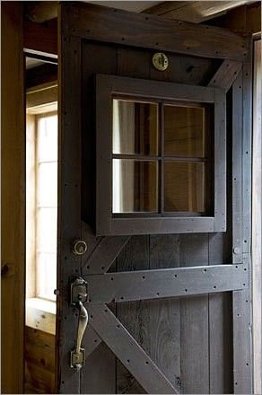 Modern version of a country farmhouse door. It's lovely to look at extremely functional