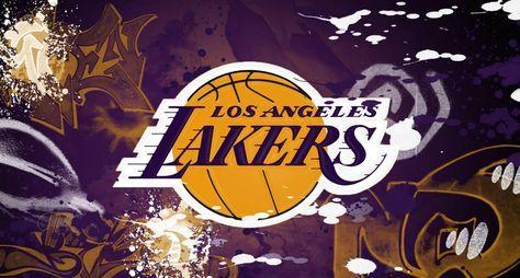 Lakers Wallpaper Logo On Shining Blue Sports LA Wallpapers HD