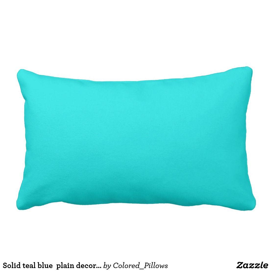 Outstanding Solid Teal Blue Plain Decorative Color Lumbar Pillow Uwap Interior Chair Design Uwaporg