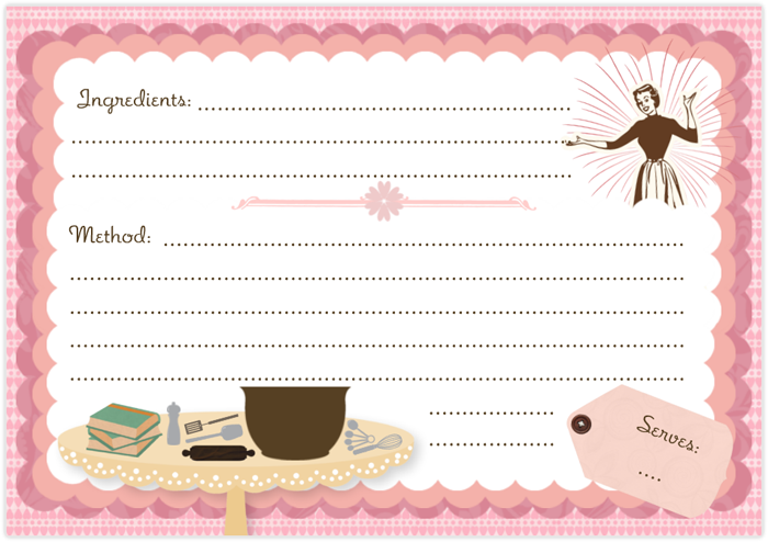 Recipe Stationery  Recipe Chocolate Chip Cookie Card Stationary