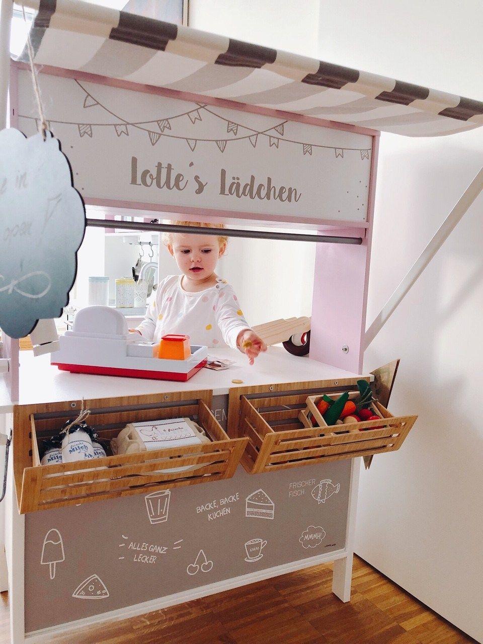 Kinderkaufladen, DIY, Ikea, selbermachen, aufpimpen, schön machen #selbstgemachtezimmerdeko