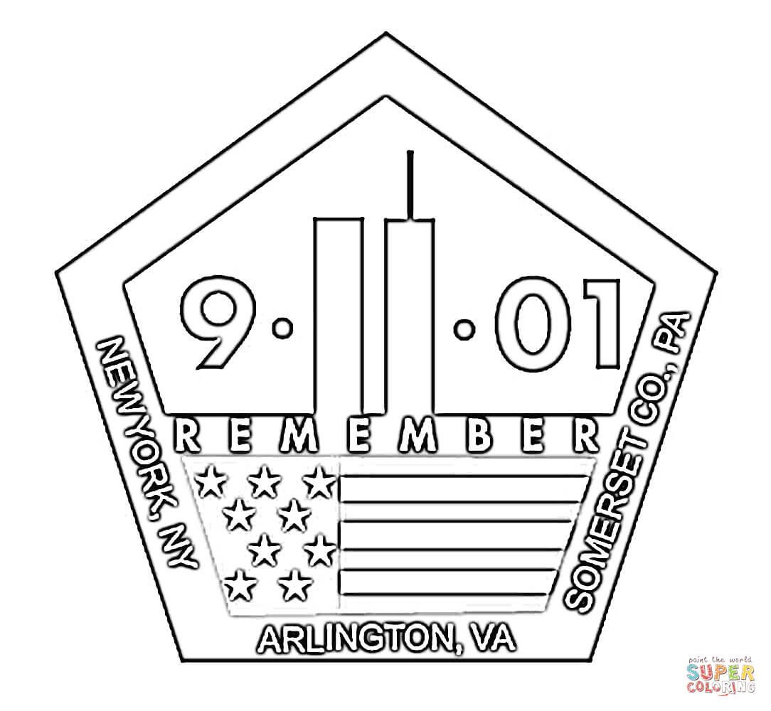 september memorial coloring page