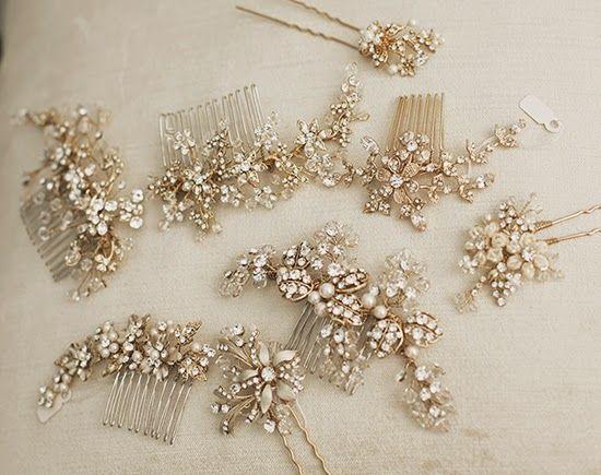 Gold crystal combs - lola & madison