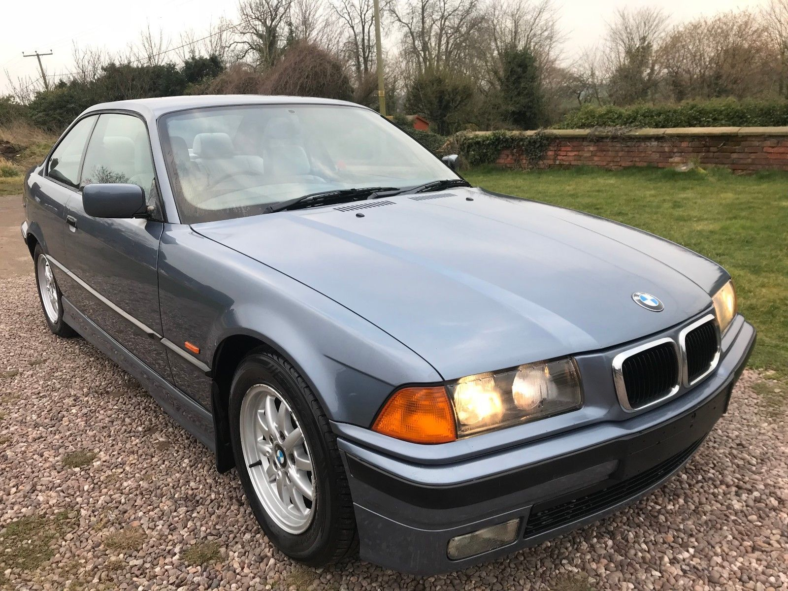 ebay 1999 bmw 323i e36 coupe stahl blue with grey leather project spares or repairs carparts carrepair [ 1600 x 1200 Pixel ]