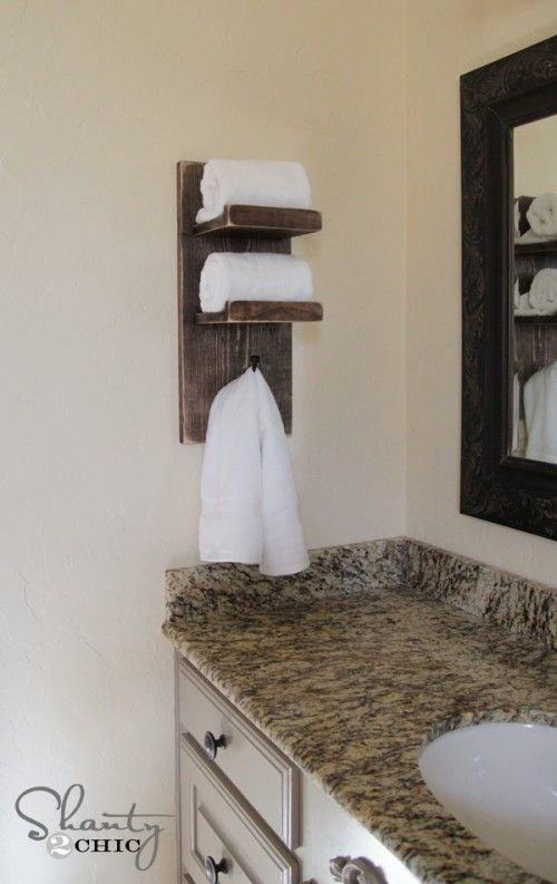 Charming Bathroom Towel Hook DIY. Really Like Bc If /when We Have Long Term