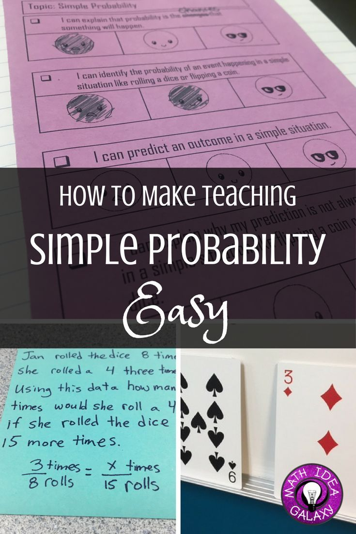 How to Make Teaching Simple Probability Easy | TpT Blogs | Mountain