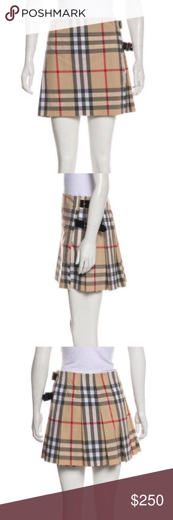 eb3d0938fc Burberry Plaid nova check Skirt kilt US 8 UK 10 This is a 100% authentic  nova check plaid mini wrap skirt kilt from Burberry in US size 8, UK size  10.