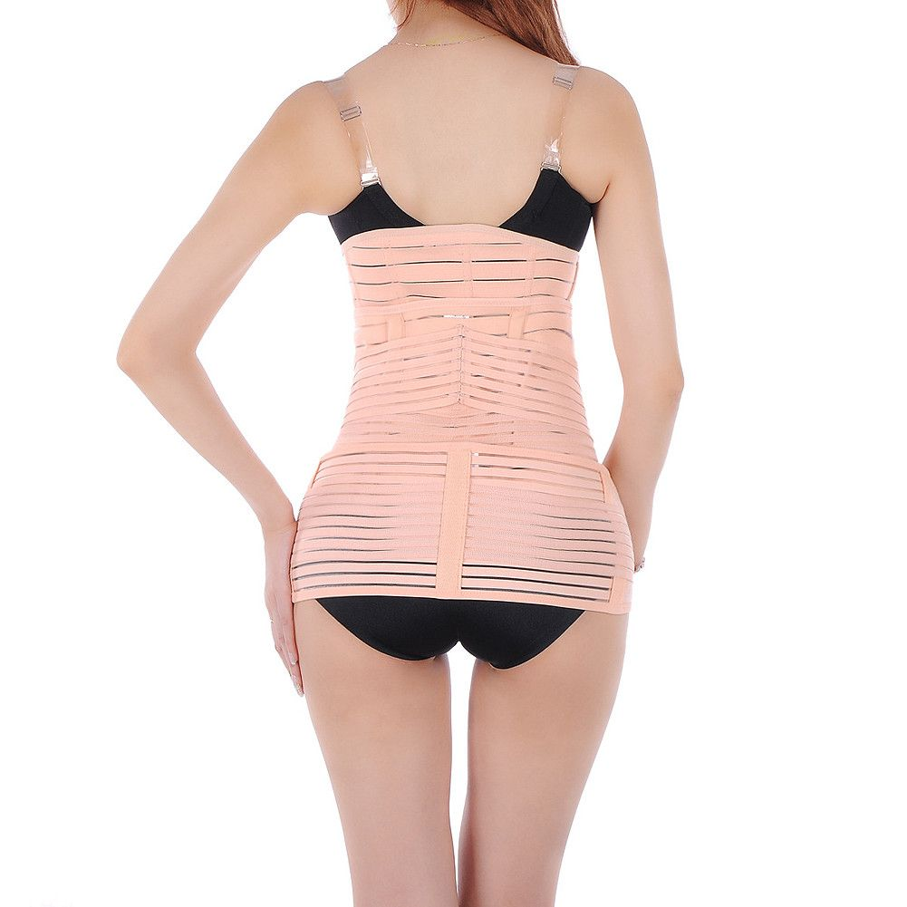 9c20a5017d9dc 3-in-1 C-section Corset Postpartum Postnatal Recovery Diastasis Recti  Splint Belly Support Girdle Belt Slimming Belt Pelvic Girdle Gastric Band  Shaper ...