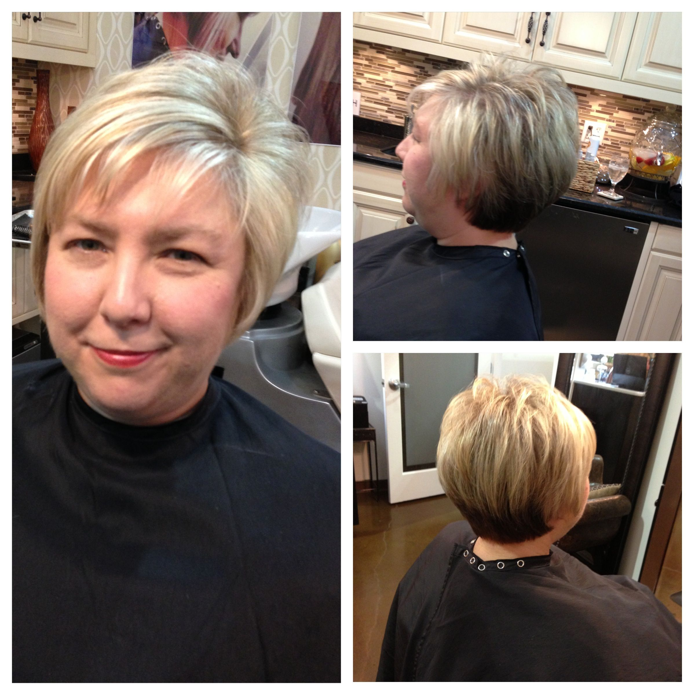 Short Graduation Haircut With Layers A Short Crown Area For Volume