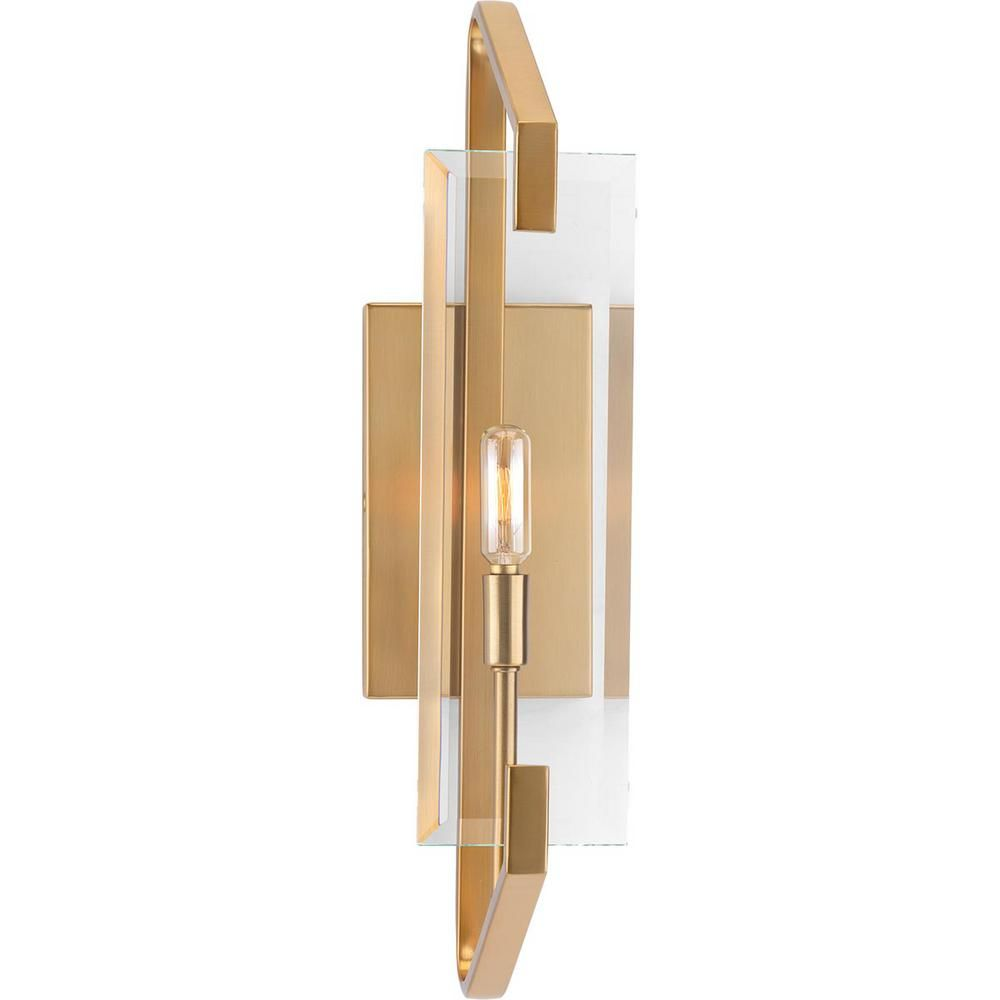 Progress Lighting Cahill Collection 1-Light Brushed Bronze ... on Bathroom Sconce Lights Brushed Bronze id=90232