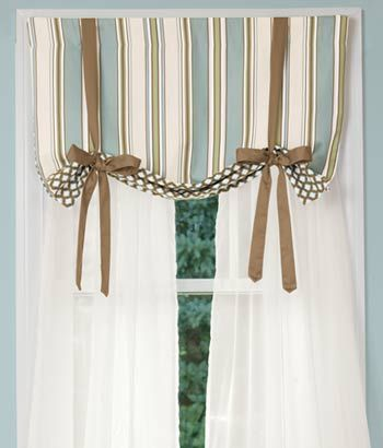 sweetwater stripe lined tie-up valance | products i love
