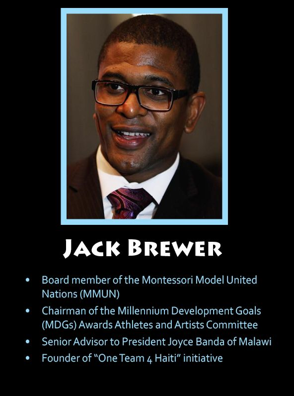 Like To Support Jack And All Of His Accomplishments Millennium Development Goals One Team Banda
