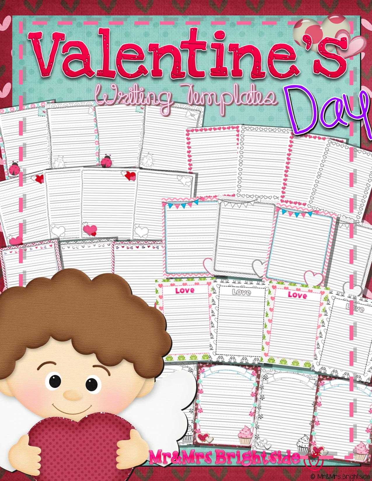 Valentine S Writing Templates