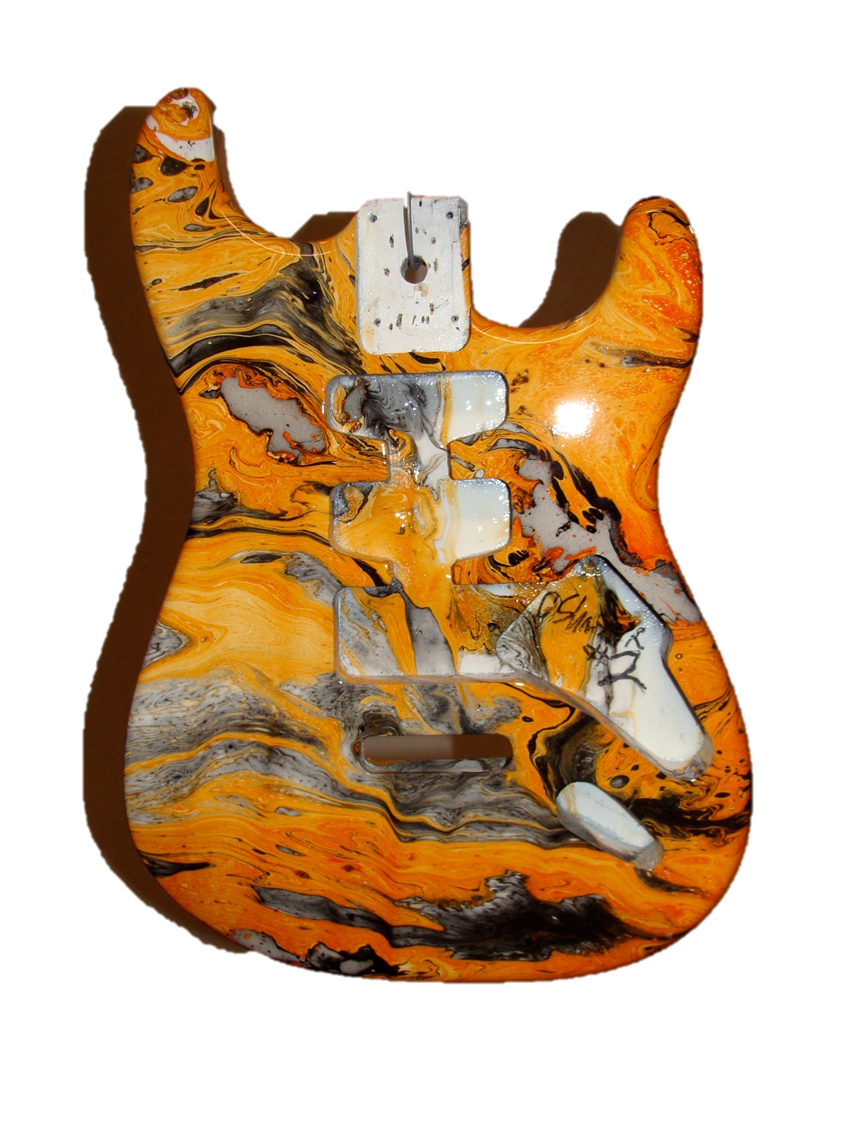 Zombie Slayer guitar by B & C Hydro Swirl, find them on FaceBook ...