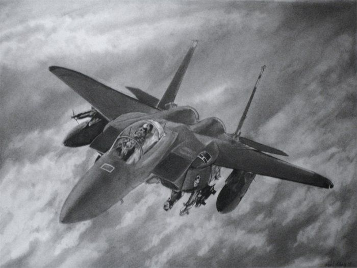 Pencil drawings aircraft
