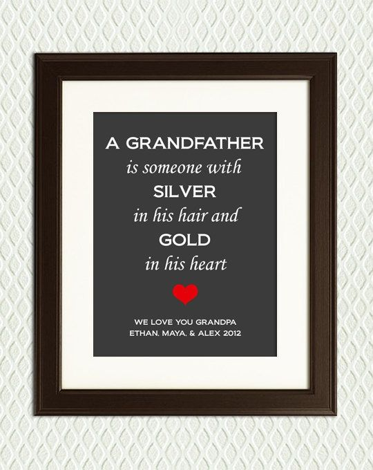 Personalized Christmas Gift Quote For Granddad Grandfather Grandpa 24 00 Via Etsy Fathers Day Crafts Christmas Gift Quotes Christmas Gift For Dad