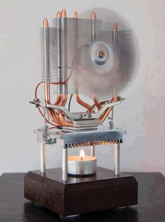 thermoelectric fan powered by a candle sustainable energy pinterest ideen technik und. Black Bedroom Furniture Sets. Home Design Ideas