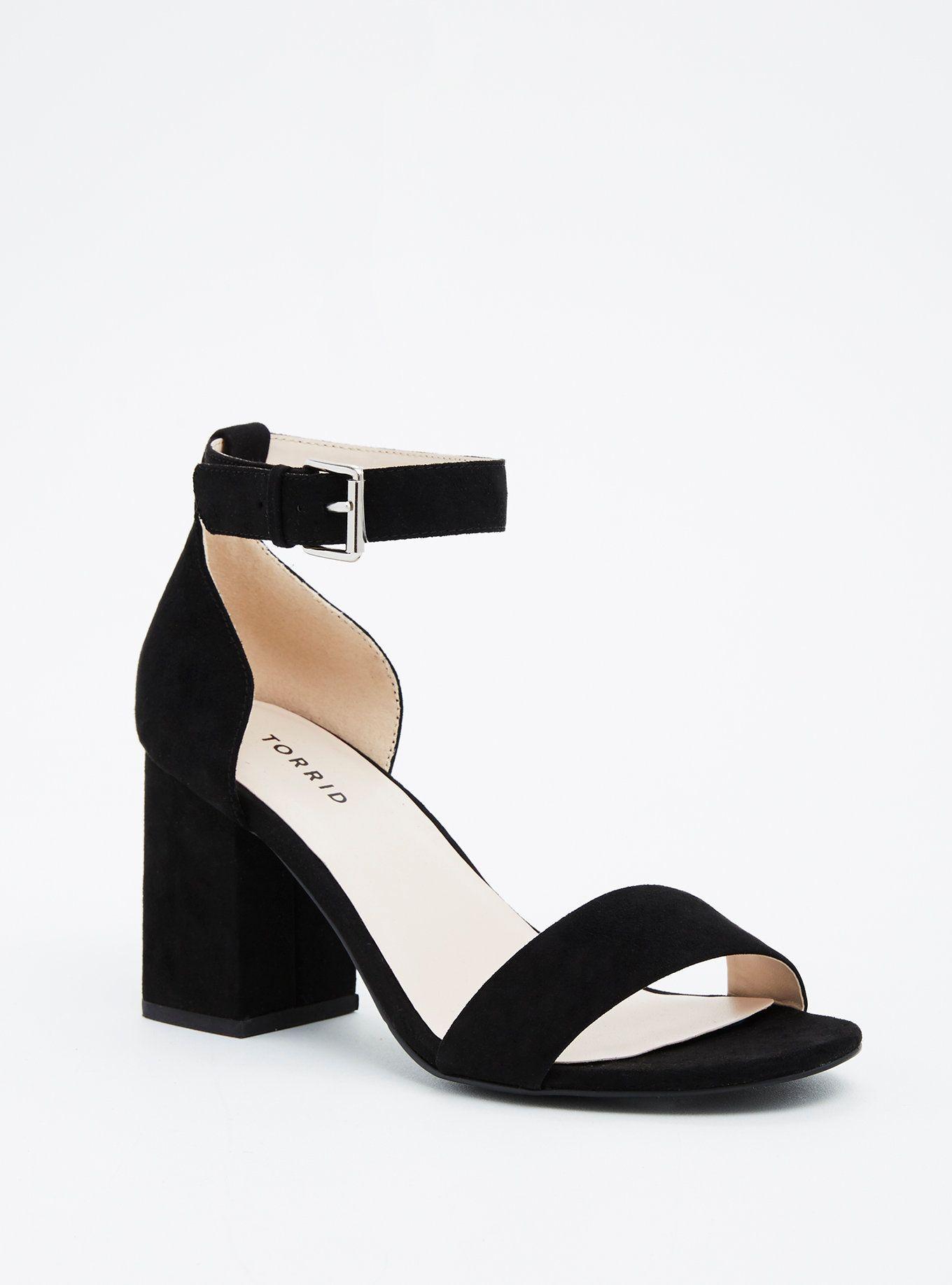 9485938c138f Single Strap Block Heels (Wide Width)