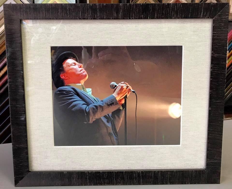 Tom Waits photograph custom framed using linen matting, UV glass and ...
