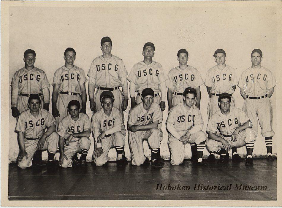 Photograph ca. 19421945 of a US Coast Guard baseball team