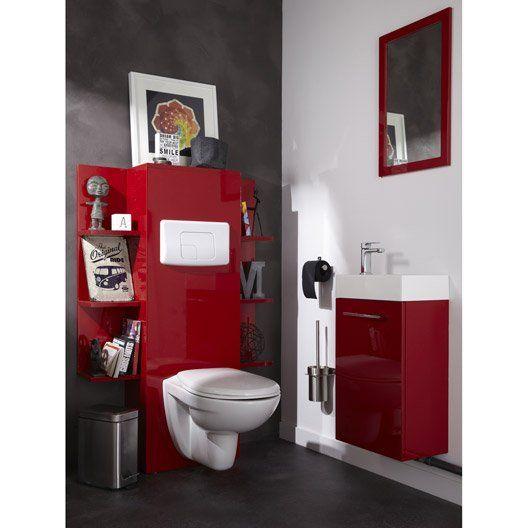 Pack WC suspendu bâti universel Dado NF toilettes Pinterest - meuble pour wc suspendu leroy merlin