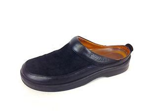 Birkenstock Shoes Suede Black Footprints Slip on Comfort Loafers Mens 9 42 C | eBay
