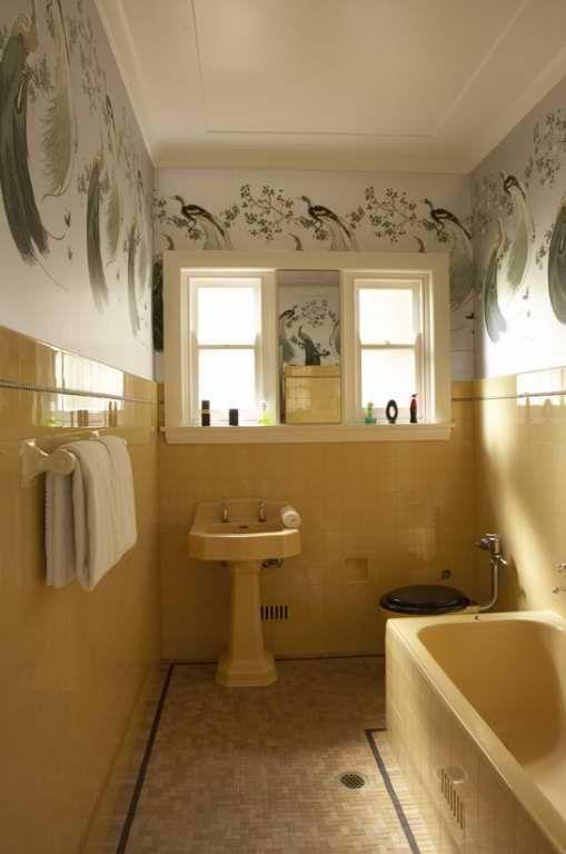 Art Deco Bathroom Australia Original Fittings Refresh By Greg Natale Design Source Decoholic Yellow Bathrooms Vintage Bathrooms Yellow Bathroom Tiles