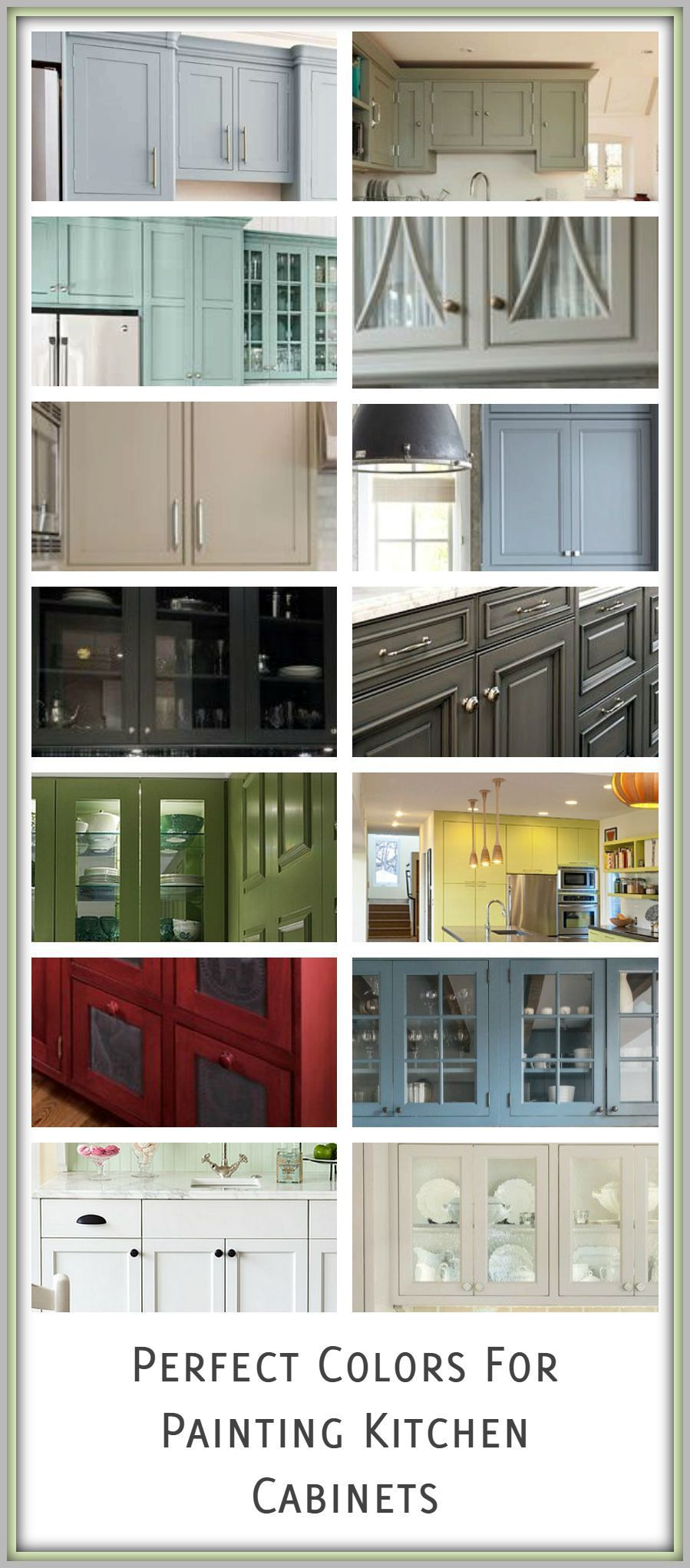 Great Colors for Painting Kitchen Cabinets | Los cambios, Cambio y ...