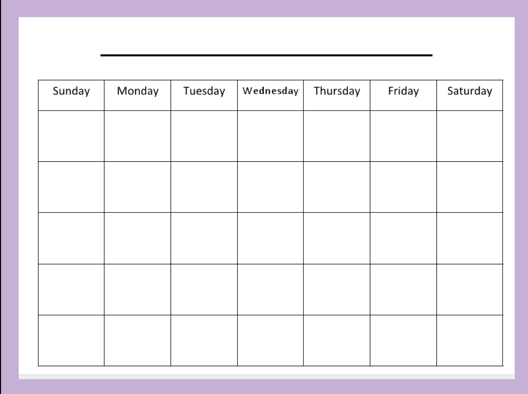 CafeChoo - Image - blank calendar templates for teachers | root ...