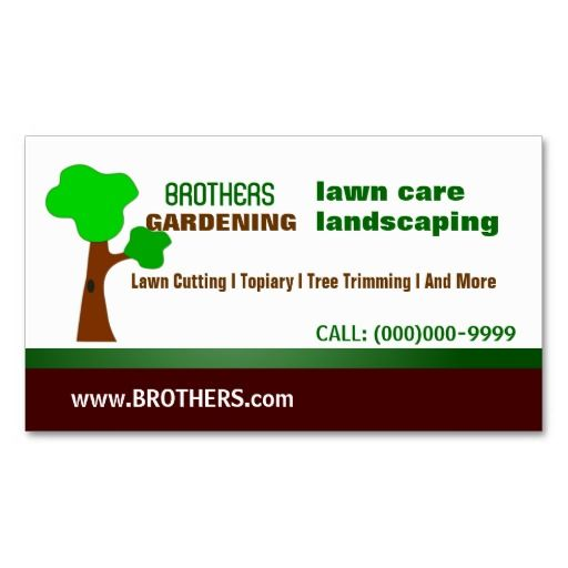 Gardening Landscaping Lawn Care Tree Trimming Business Card