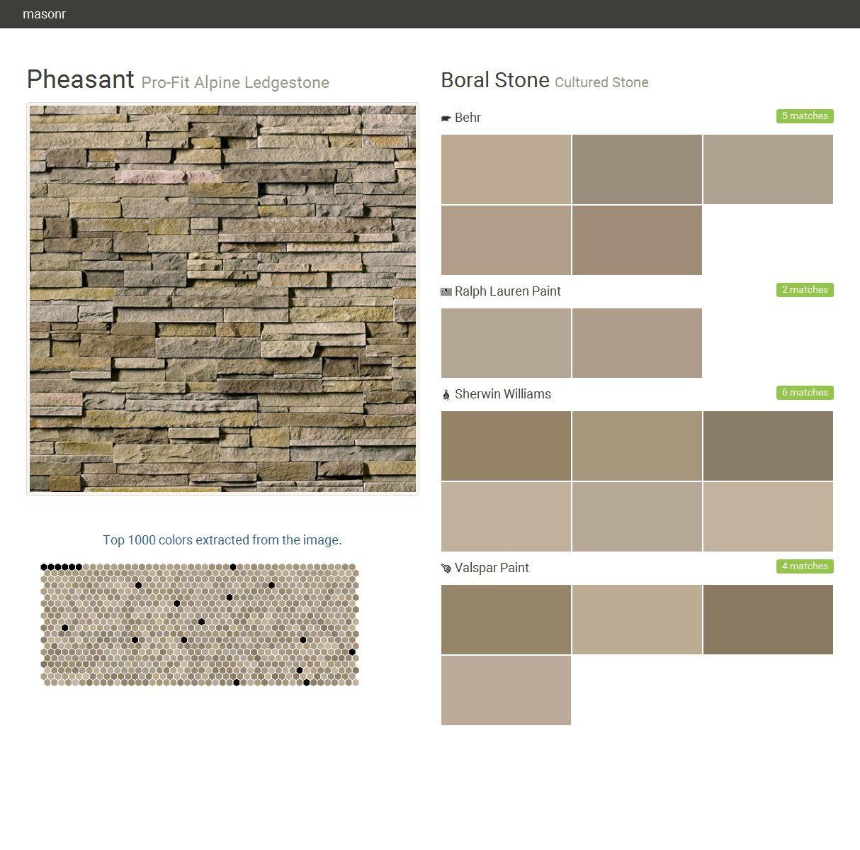 Pheasant pro fit alpine ledgestone cultured stone boral for Behr pro paint