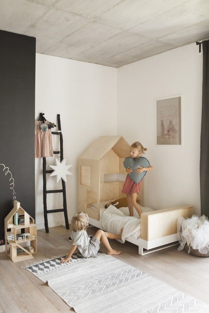 Amazing Bed Natural Material And Creative Form Furniture For Kids Bedroom