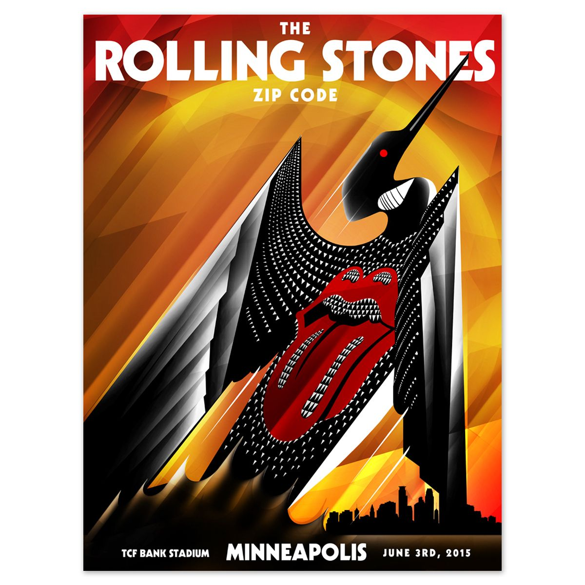 Minneapolis MN USA 3-June-2015 Rolling Stones live show