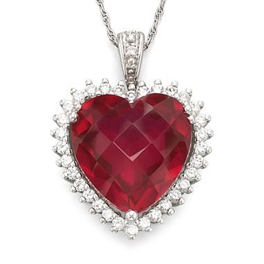 Lab created ruby heart pendant jcpenney 60 jewelry heart lab created ruby heart pendant jcpenney 60 aloadofball Image collections