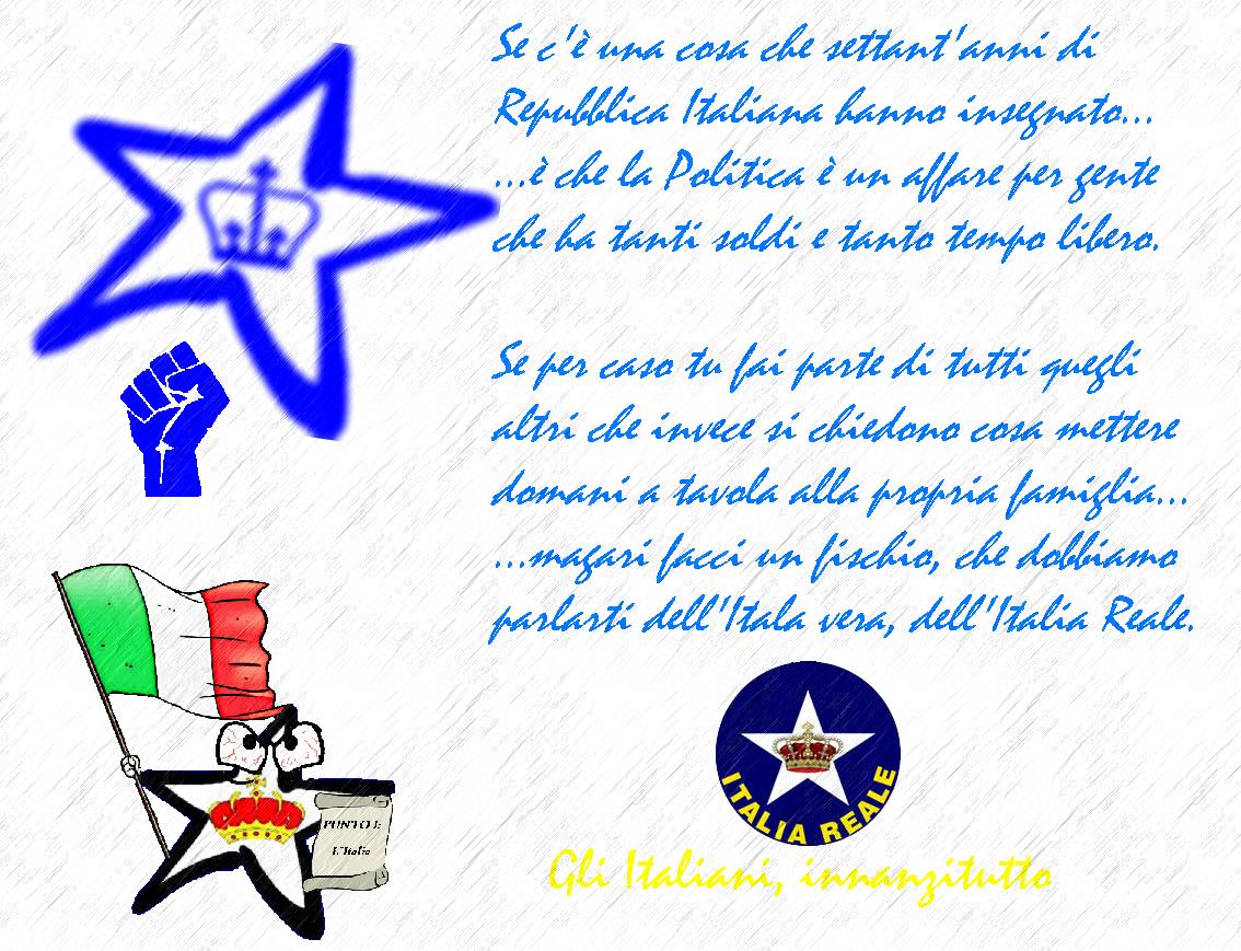 Manifesto   ITALIA REALE - Stella e Corona