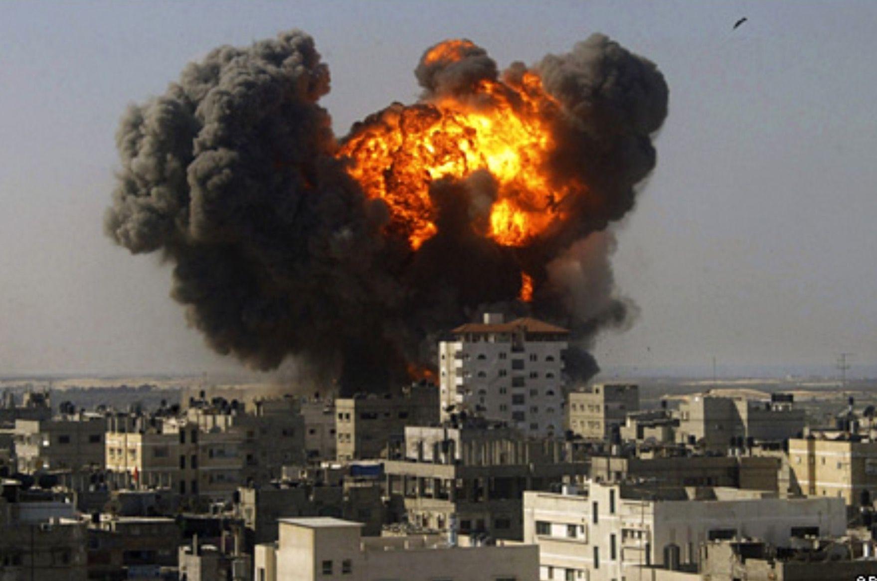 Israel attack on Gaza in Retaliation Revelation 11, Air