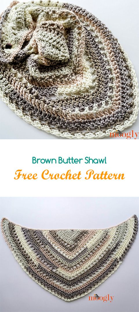 Brown Butter Shawl Free Crochet Pattern #crochet #yarn #crafts ...