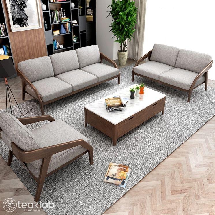 Buy Indian Minimalist Wooden Sofa Set Online Teaklab In 2020 Wooden Sofa Set Wooden Sofa Set Designs Sofa Set Designs