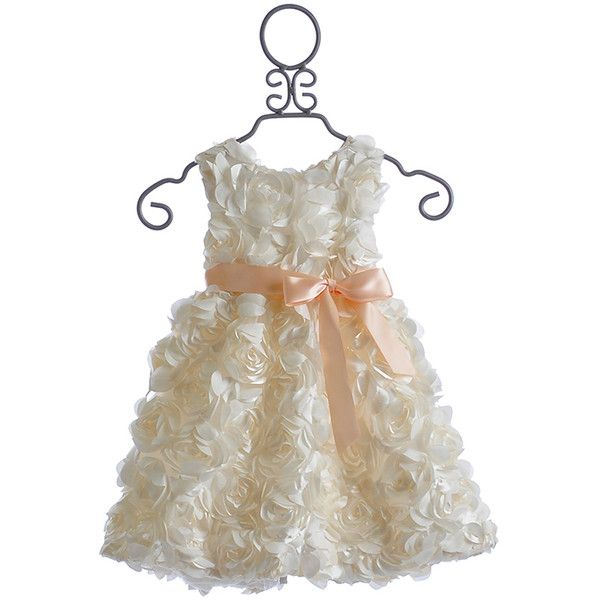 Halabaloo Ivory Dress Flower Girl (1.405 ARS) ❤ liked on Polyvore featuring flower girl