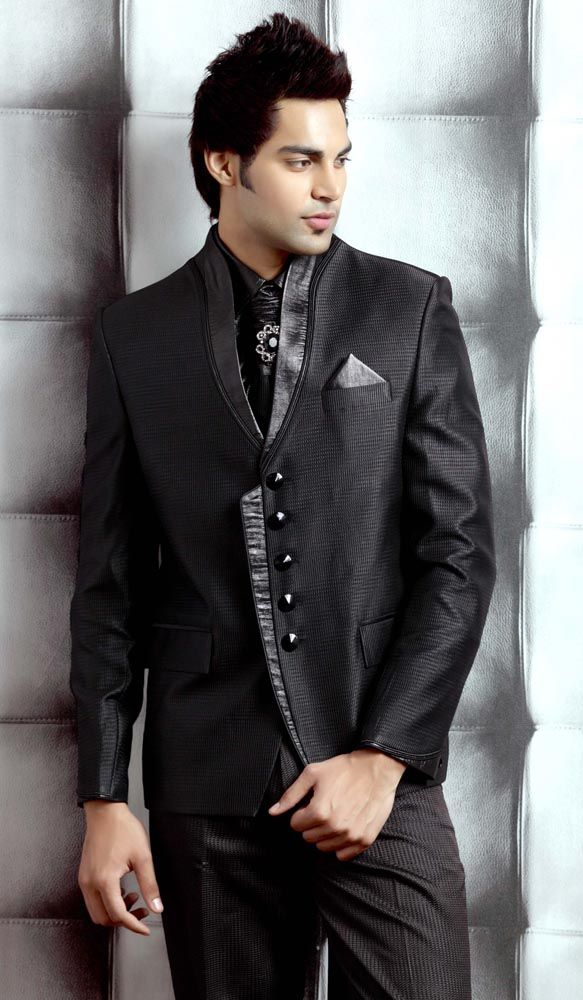 goth groom attire | Men's Suits and Black Shirts for Weddings