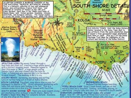 poipu map Google Search Poipu, Map, Allerton