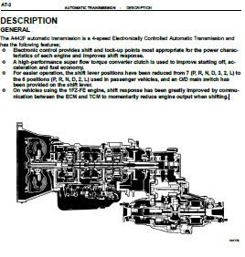 a442f automatic transmission service and repair manual pdf english