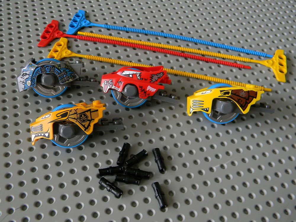 Lego Legends of Chima 4 Different  Speedorz Vehicles with Ripcords New condition